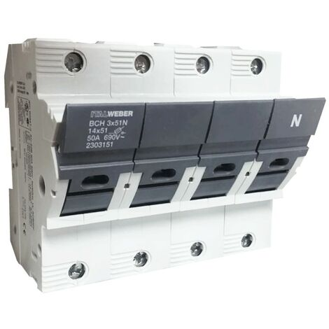 Portafusibles Italweber ser separados BCH 14 x 51N 50A 690V 2303151