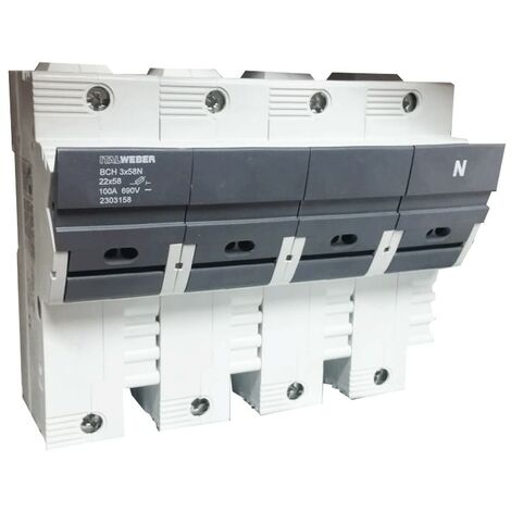Portafusibles Italweber ser separados BCH 22 x 58N 3-polo 100 A 690 V 2303059