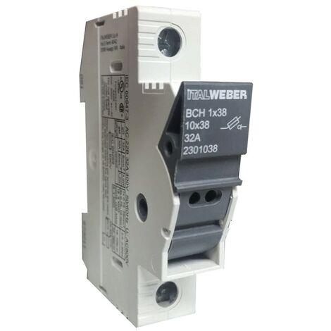 Portafusibles Italweber ser separados del CIISB para fusibles de 10,3 x 38 mm 2301038