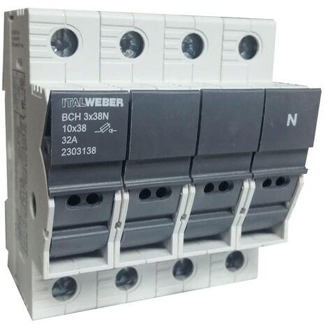 Portafusibles Italweber ser separados del CIISB para fusibles de 10,3 x 38N 2303138