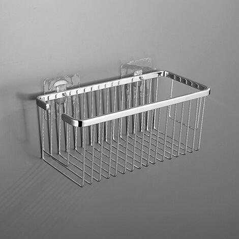 Portagel cesta de ducha y bañera rectangular AZO para baño fabricado en latón y acabado en cromo brillo Kibath