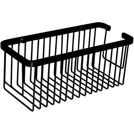 Portagel cesta de ducha y bañera rectangular AZO para baño fabricado en latón y acabado en cromo brillo. opciones de colocación: con tornillos / con adhesivo. Kibath