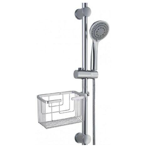 Portagel columna de ducha acero inoxidable cromado brillo- CM Baños