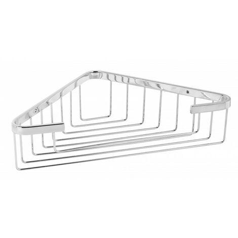 Portagel de rincón acero inoxidable cromado brillo - CM Baños
