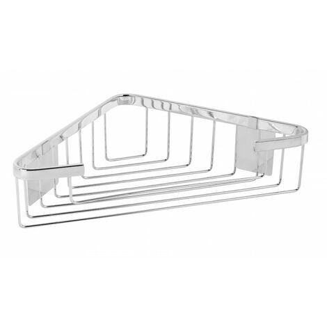 Portagel de rincón adhesivo acero inox cromado alto brillo - CM Baños