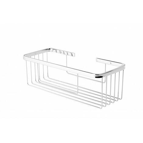 Portagel rectangular acero inoxidable cromado brillo - CM Baños