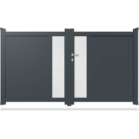 Portail Aluminium Battant Modern MD03