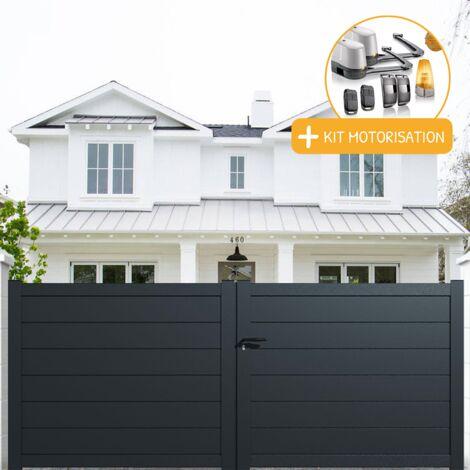 """main image of """"Portail aluminium battant plein en kit + Motorisation"""""""