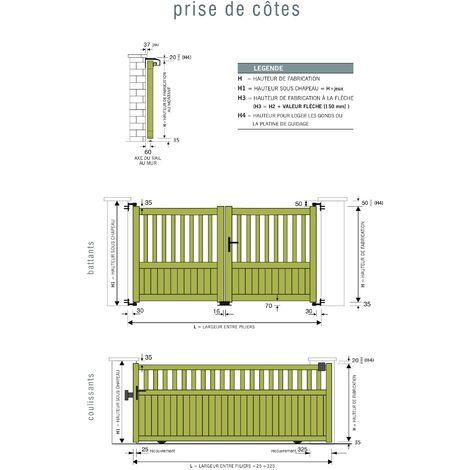 Portail Aluminium Coulissant PACA L3,5m x1,4