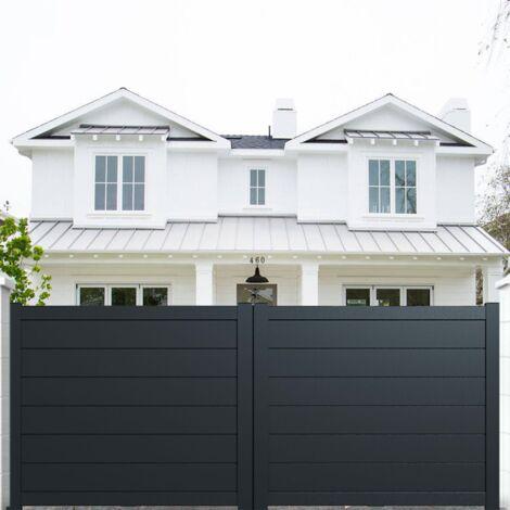 "main image of ""Portail aluminium coulissant plein en kit"""