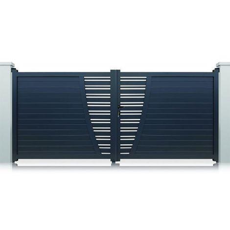 Portail Aluminium Gris New York Battant Standard - plusieurs largeurs disponibles
