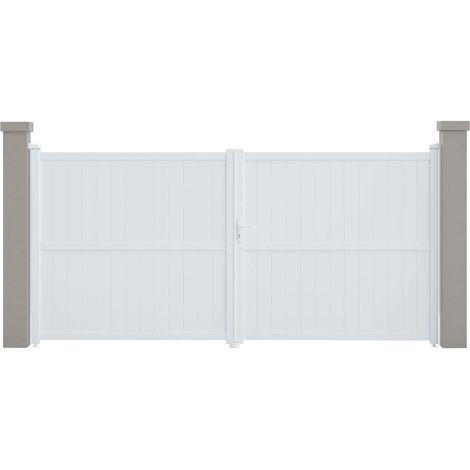 "Portail aluminium ""Lola"" - 349.5 x 155.9 cm - Blanc"