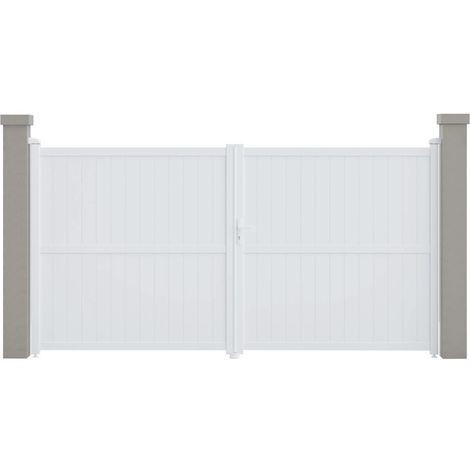 "Portail aluminium ""Lola"" - 349.5 x 180.9 cm - Blanc"