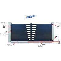 Portail Aluminium Los Angeles Coulissant Standard - Couleur : Gris - Hauteur : 1700 mm - plusieurs largeurs disponibles