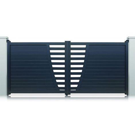 Portail Aluminium San José Battant Standard - Couleur : Gris - Hauteur : 1700 mm - plusieurs largeurs disponibles