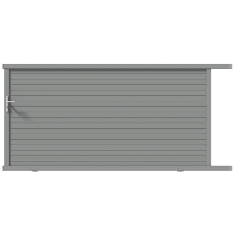 Portail coulissant Alu L350 H155 Lame 160 RAL7037