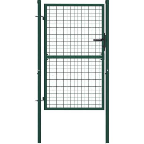 Portail de cloture Acier 100x125 cm Vert