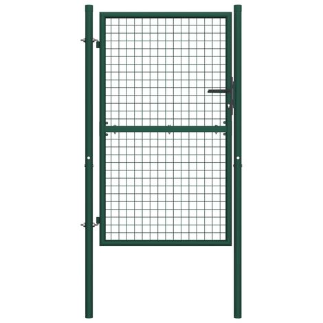 Portail de cloture Acier 100x150 cm Vert
