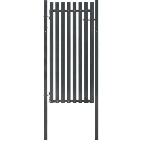 Portail de clôture Acier 103x195 cm Anthracite