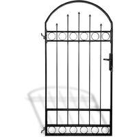 Portail de clôture avec dessus arqué 100 x 200 cm