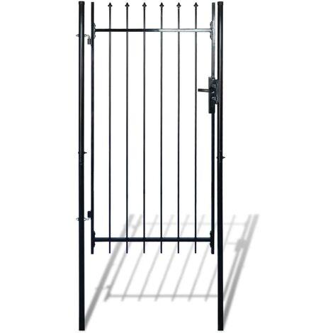 Portail de clôture simple avec haut de lance 100 x 150 cm
