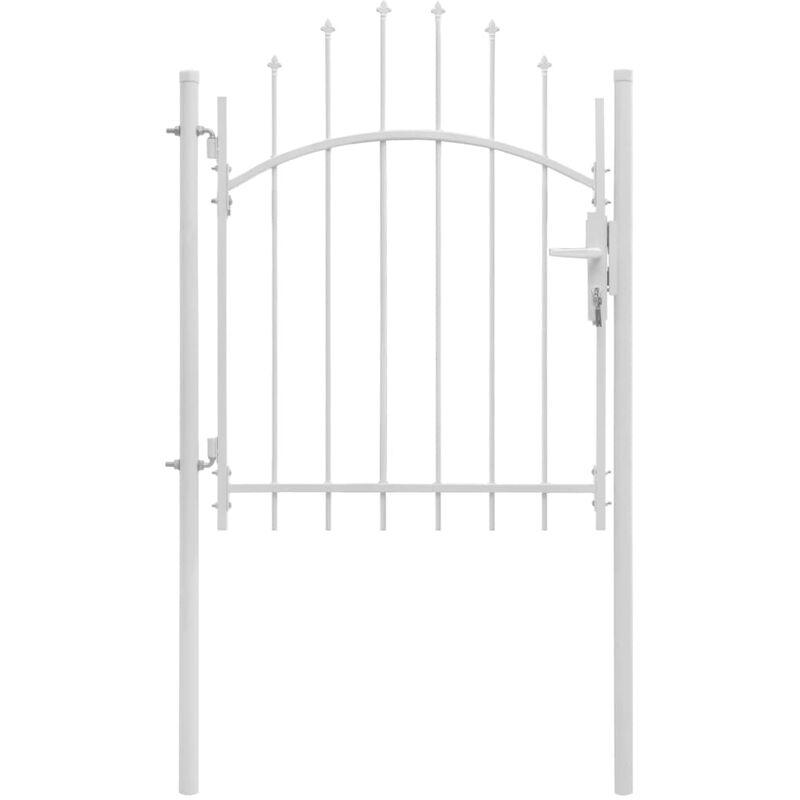 Portail de jardin Acier 1 x 1,75 m Blanc