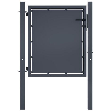 Portail de jardin Acier 100 x 100 cm Anthracite