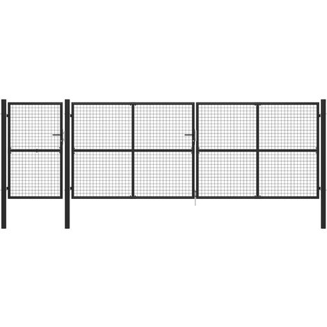 Portail de jardin Acier 500 x 150 cm Anthracite