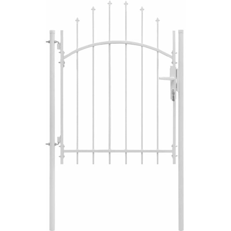 Portail de jardin Acier 1 x 2 m Blanc