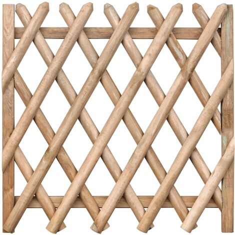 Portail de jardin Bois de pin imprégné 100 x 100 cm