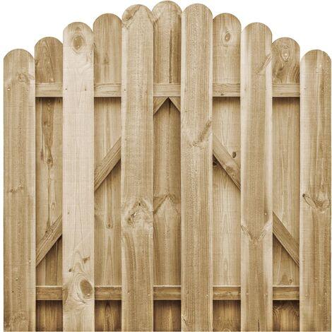 Portail de jardin Bois de pin imprégné FSC 100x100 cm