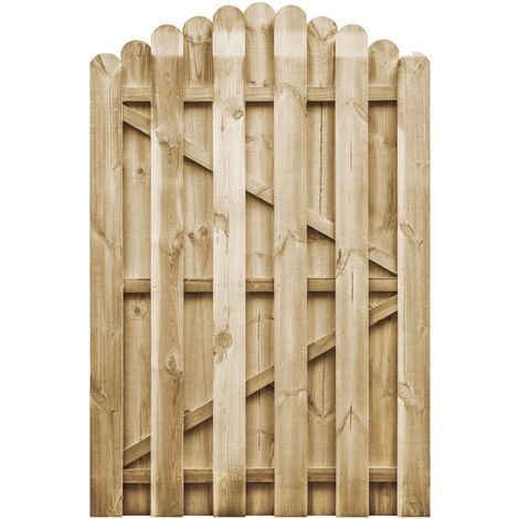 Portail de jardin Bois de pin imprégné FSC 100x150 cm