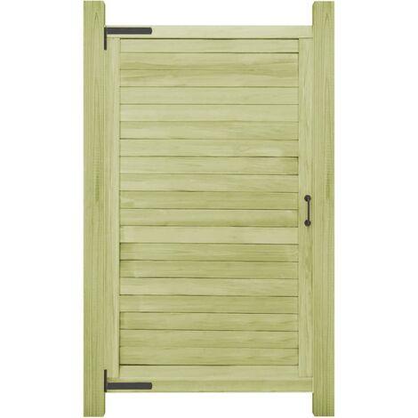 Portail de jardin Bois de pin imprégné FSC 175 x 100 cm
