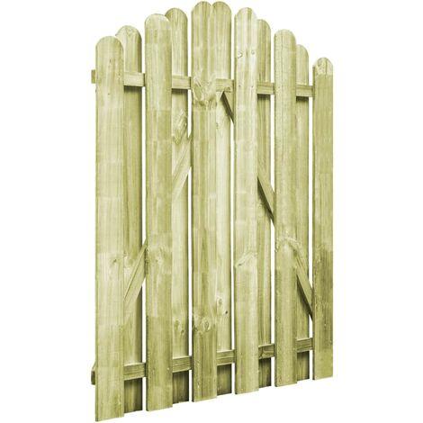 Portail de jardin Bois pin impregne 100x125cm Design d'arche