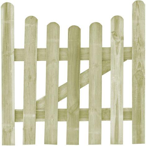 Portail de jardin Pin imprégné 100 x 100 cm