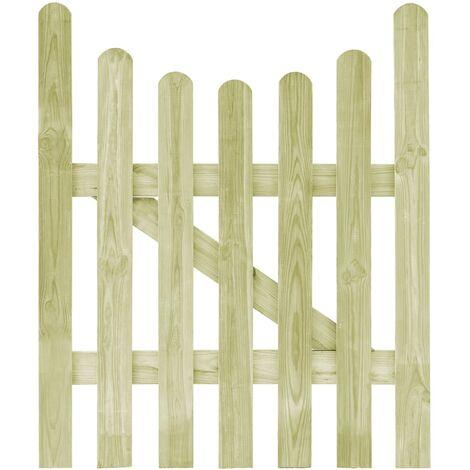 Portail de jardin Pin imprégné 100 x 120 cm