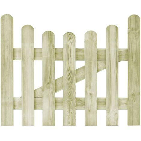 Portail de jardin Pin imprégné FSC 100 x 80 cm