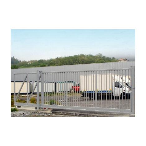 Portail Industriel Coulissant Autoportant Galvanisé Plastifié 12mx1,5m manuel motorisable ARES45