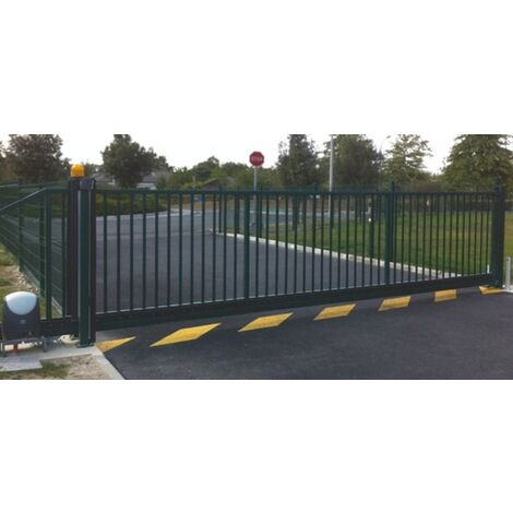 Portail Industriel Coulissant Autoportant Galvanisé Plastifié 3mx1.5m manuel