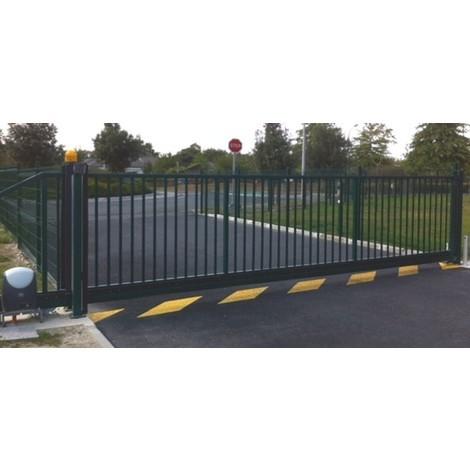 Portail Industriel Coulissant Autoportant Galvanisé Plastifié 3mx1.5m manuel | Noir