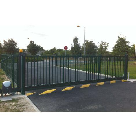 Portail Industriel Coulissant Autoportant Galvanisé Plastifié 4mx1.5m manuel