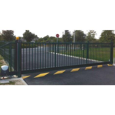 Portail Industriel Coulissant Autoportant Galvanisé Plastifié 5mx1.7m manuel