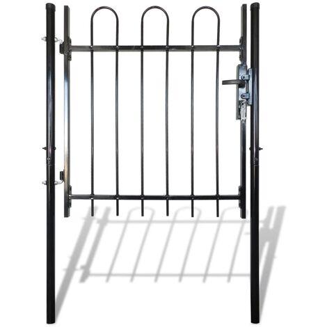 Portail porte simple avec partie supérieure en cerceau