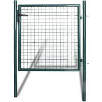 Portail pour clôture en acier laqué