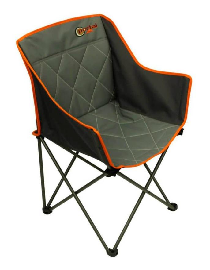 Portal Outdoor Tom Stuhl grau orange