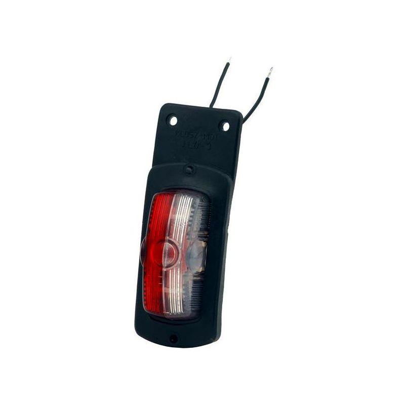 FANALE LUCE INGOMBRO LATERALE 6 LED ROSSO 24V OMOLOGATO CAMION RIMORCHIO