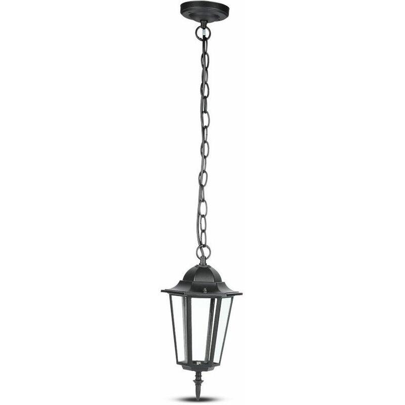 Lampada LED da Soffitto a Lanterna con Portalampada E27 (Max 60W) Colore Nero Opaco l: 840mm IP44 - V-tac