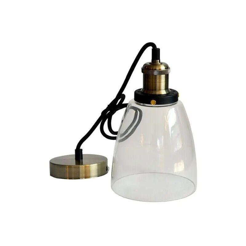 V-tac - portalampada pendente d140 220-240 volt CE E27 interno trasparente vetro tec 611084