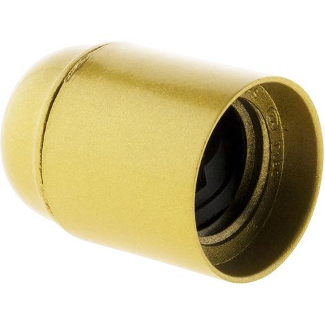 Portalámpara casquillo E27 termoplástico- color oro