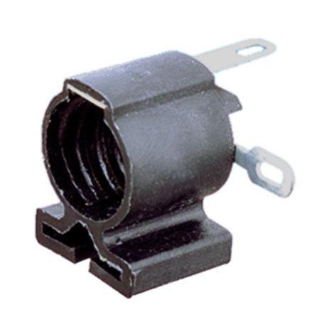 Portalámparas a rosca con ranura de sujección E-10 Color Negro Electro DH 12.003/N 8430552019649